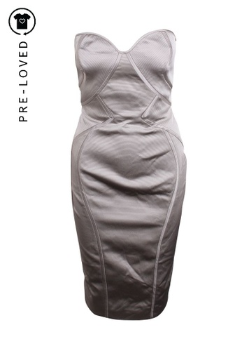 Zac Posen grey Pre-Loved zac posen Strapless Midi Dress 44B9BAA0148D9AGS_1