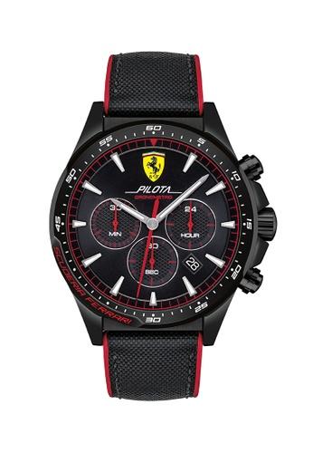 Scuderia Ferrari black Scuderia Ferrari Pilota Black Men's Watch (830623) 01A12ACB52E1F8GS_1