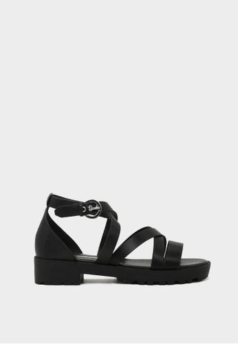 London Rag 黑色 London Rag女士黑色低跟凉鞋SH1418 LO507SH0A5GITW_1