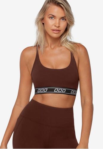 Lorna Jane brown Slam Dunk Sports Bra 214ACUS6F1E5C1GS_1
