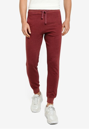 Electro Denim Lab red Slim Terry Joggers 7D4FEAAD1C598AGS_1