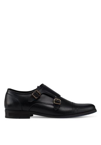 ALDO black Valede Double Monk Strap Shoes BC4DDSH3F5F34BGS_1