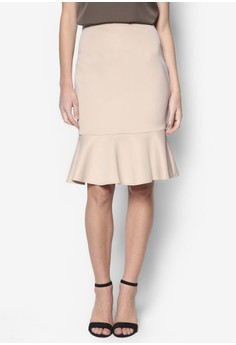 Collection Fluted Hem Midi Skirt