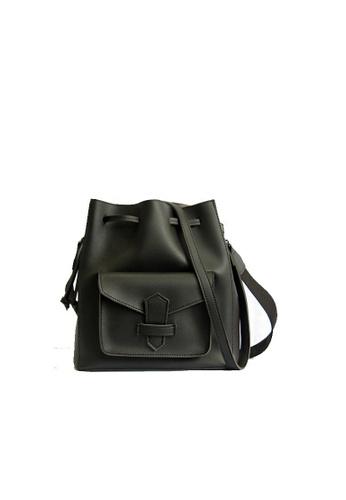 GreyPlus black LOVITA Double Strap Bucket Bag 86824AC4C961EAGS_1