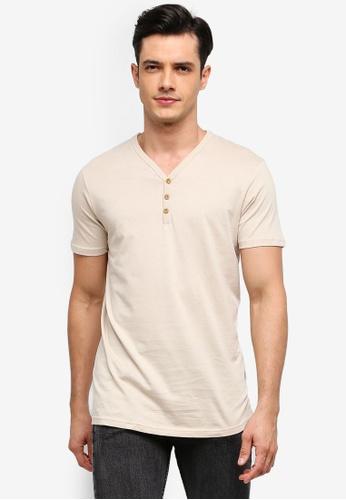 Cotton On 白色 簡約V領T恤 ABBE0AA6C06E50GS_1