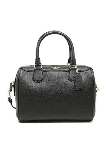 Coach black Coach Bennett Crossgrain Leather Satchel Crossbody Bag (F32202) - Black D5438AC9915D32GS_1