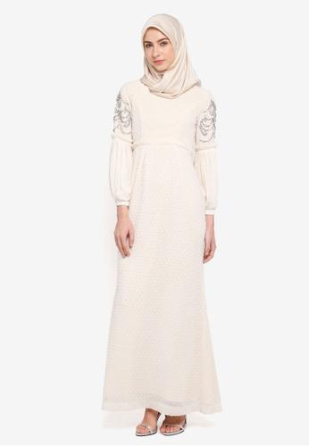 MINAZ for ZALORA white Zaraa Dress BB8D9AA8827D7CGS_1