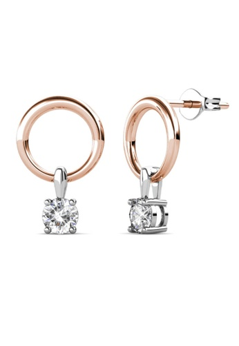 Her Jewellery silver and gold Octavia Earrings (Dual Tone) -  Embellished with Crystals from Swarovski® 8A8B2AC4D4BA9CGS_1
