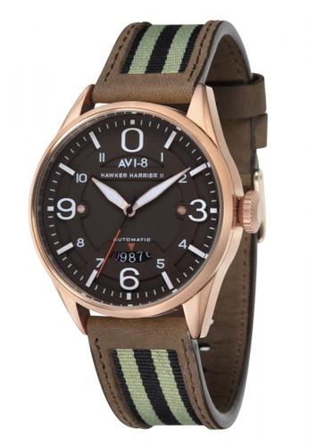 AVI-8 brown Hawker Harrier II Leather Watch AV642AC68JRVPH_1