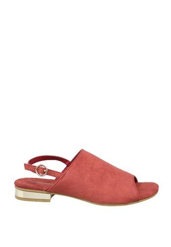 London Rag orange Orange Flat Peep Toe Sandals 5A567SH539B77DGS_1