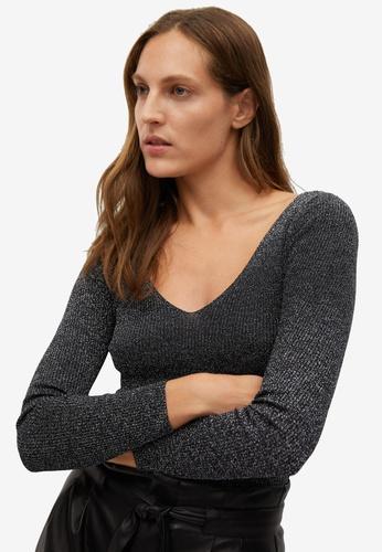 Mango black Glossed Effect Knit Sweater 8E4A2AA2961C25GS_1
