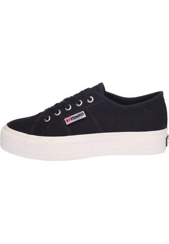 paperplanes navy SNRD-117 Women Casual Stylish Platform Canvas Sneakers Shoes PA110SH64OZJHK_1