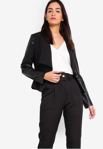 ZALORA black Draped Collar Blazer D7C26AAFB83D68GS_1