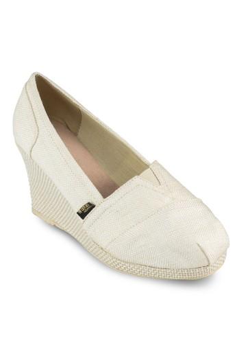 Shingesprit 品牌eta 簡約編織楔形鞋, 女鞋, 中跟