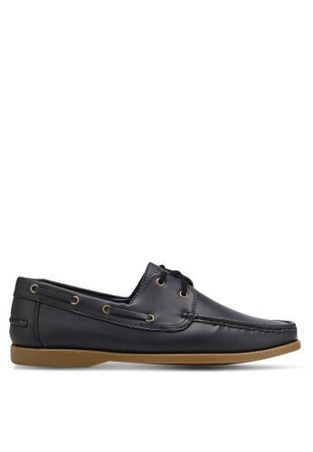 ZALORA black Essential Faux Leather Boat Shoes 69F40SH3C16A3FGS_1