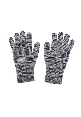 藏式條紋觸控手套 - 黑(M), 飾品配件, 手esprit 面試套