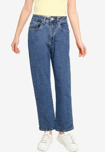 Cotton On blue Straight Stretch Jeans 81DBBAAD2E2CAAGS_1