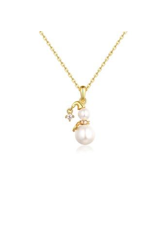 SUNSET 金色 Premium S925 Sliver Pearl Necklace 3695DAC7F6F439GS_1