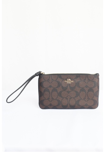 Coach brown Coach Large Wristlet In Signature F58695 (Imitation Gold/Brown/Black) 1F677AC8C641D4GS_1