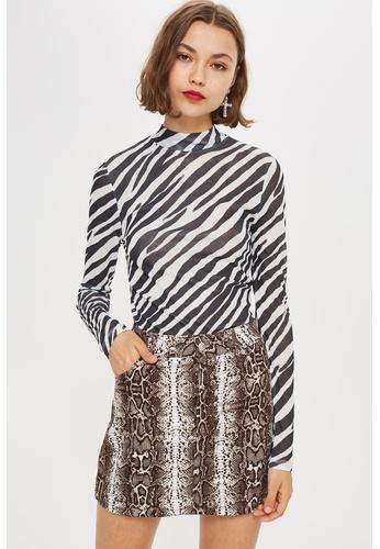 hot-selling real huge selection of pre order Zebra Print Long Sleeve Top