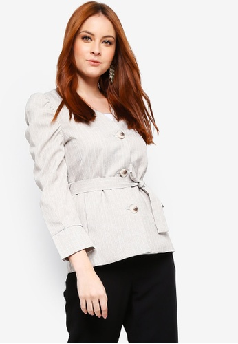 Zalia beige Casual Shell Jacket 0660CAA730D990GS_1