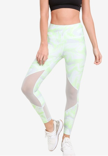 Under Armour green UA Hg Armour Mesh Ankle Crop Leggings - Print 2CE78AA813CA69GS_1