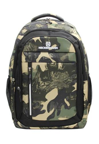 Neckermann black and green Neckermann Backpack Series 0129 E9E44ACF4C7985GS_1