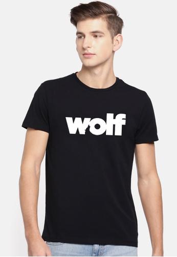 Greatvalueplus black Wolf Men's Round Neck Statement T-Shirt A8168AAD5646B1GS_1