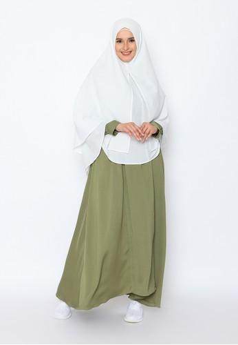 Allev green Omaira Dress - Hijau Army C8188AA4C69BCDGS_1