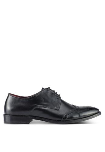 ACUTO black Leather Dress Shoes AC283SH0SL5LMY_1