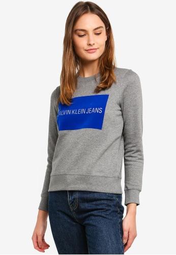 Calvin Klein 灰色 A-Institution Flock Box - Calvin Klein Jeans 29396AAF4186B7GS_1