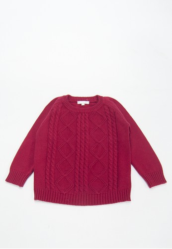 Cribcot red Sweater Cable Argyle Red 5319AKADAB46C2GS_1