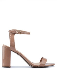 4f1e49c33091 Dorothy Perkins pink and beige Nude Shimmer Block Heels 654E0SH52C0C83GS 1