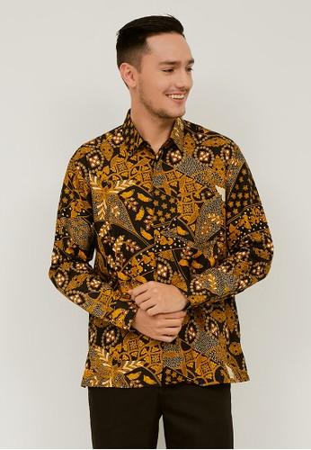 Woffi black Naour Batik Shirt 99C99AAD330C99GS_1