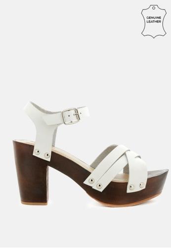 RAG & CO white Criss-Cross Ankle Strap Sandal 4EF73SH530BB12GS_1