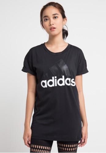 adidas black adidas essentials linear loose tee 2ABE2AA4284629GS_1