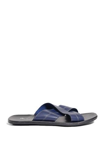 Dr. Kevin blue Dr. Kevin Mens Leather Sandal 97188 - Blue DR982SH0US9LID_1
