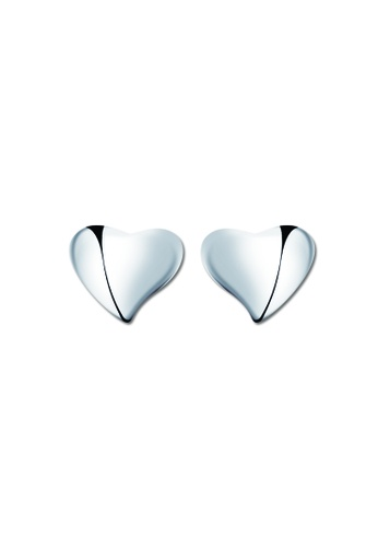SC Tom Silver silver Medium Heart Stud Earring SC872AC68TQHPH_1