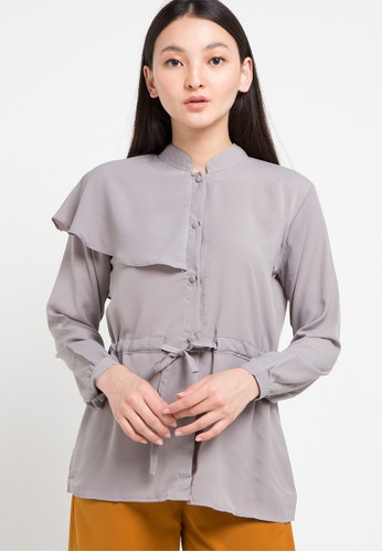 Office Hour grey Marti Blouse BCEB0AA5A95802GS_1