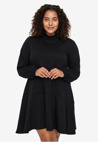 Vero Moda black Plus Size Bistad Tunic 1BD51AAE837BB5GS_1