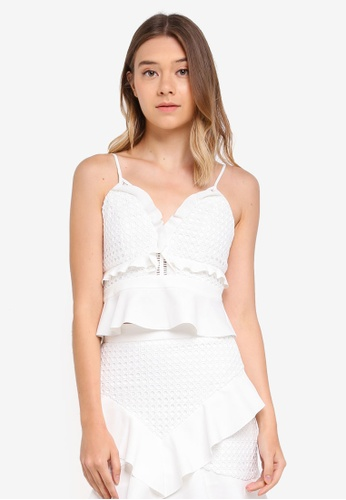 Bardot white Fae Lace Bustier Top BA332AA0STBEMY_1