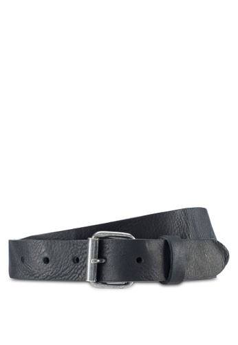 MANGO Man black Leather Belt CC4CFAC47AC719GS_1