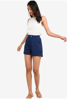 a9a12d5120 ZALORA BASICS Basic Rolled Hem Shorts S$ 19.90. Sizes XS S M L XL