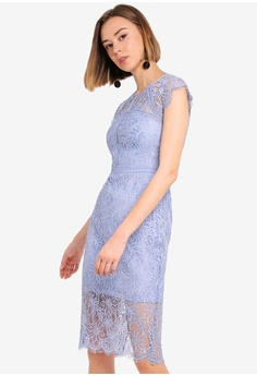 67bebd5388d43 Forever New blue Petite Tara Lace Pencil Dress 0D27AAAA93EC42GS 1
