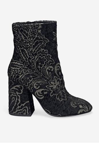 ASH 黑色 Fedora - 黑色刺繡靴 9892CSH550C291GS_1