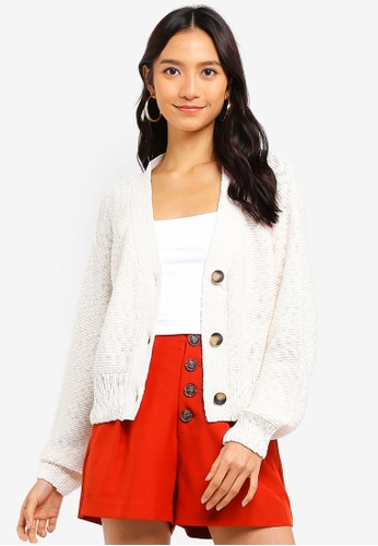 Cotton On white Cropped Button Up Cardi A9FE5AAB266B1CGS_1
