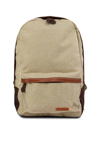 Bagstationz brown Bagstationz Unisex Linen Cotton Backpack BA607AC30RCZMY_1