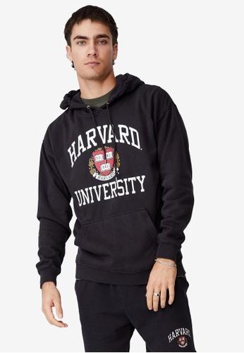Cotton On black Premium Collab Fleece Pullover Hoodie 1A9FBAA84991ECGS_1