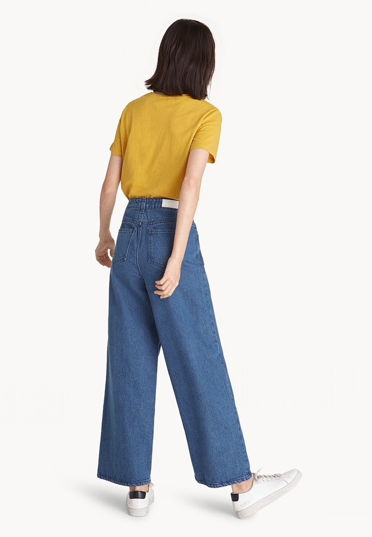 Blue Leg Wide Jeans Loose Pomelo Uzgwvv