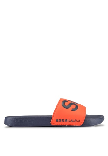 Superdry orange and navy Superdry Pool Slide 05A32SH072039AGS_1